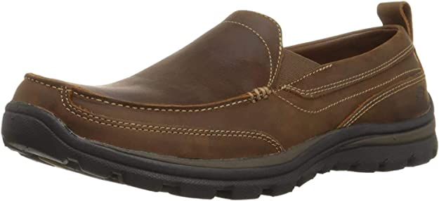 Skechers mens relaxed fit memory foam superior gains slip on