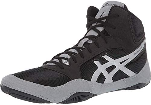 ASICS Unisex Snapdown 2 Wrestling Shoes, 12M, Black OR Silver.